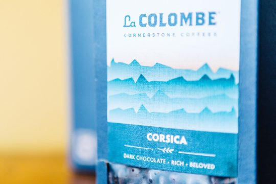 corsica front with tasting notes: dark chocolate, rich, beloved