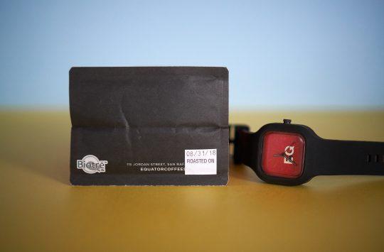 watch + bottom of bag