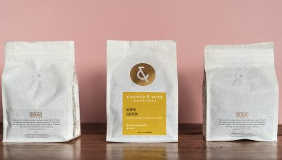Three Dapper & Wise coffee bags