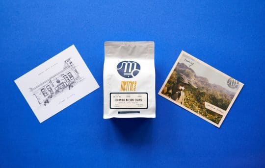 Metric Coffee Packaging and Postcards
