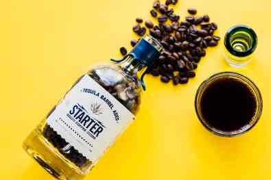 Starter Coffee in Taquila Bottle