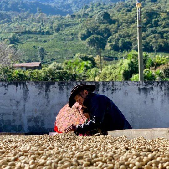 farmer and coffee
