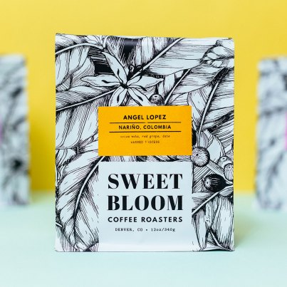 Sweet Bloom Angel Lopez Nariño, Colombia coffee bag