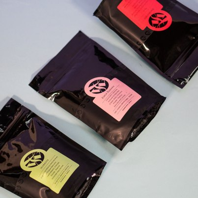 Three bags of Tim Wendelboe coffee