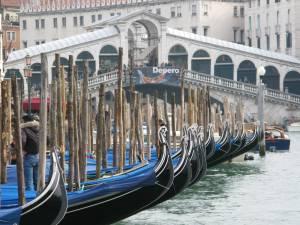 Gondolas in front of Rialto