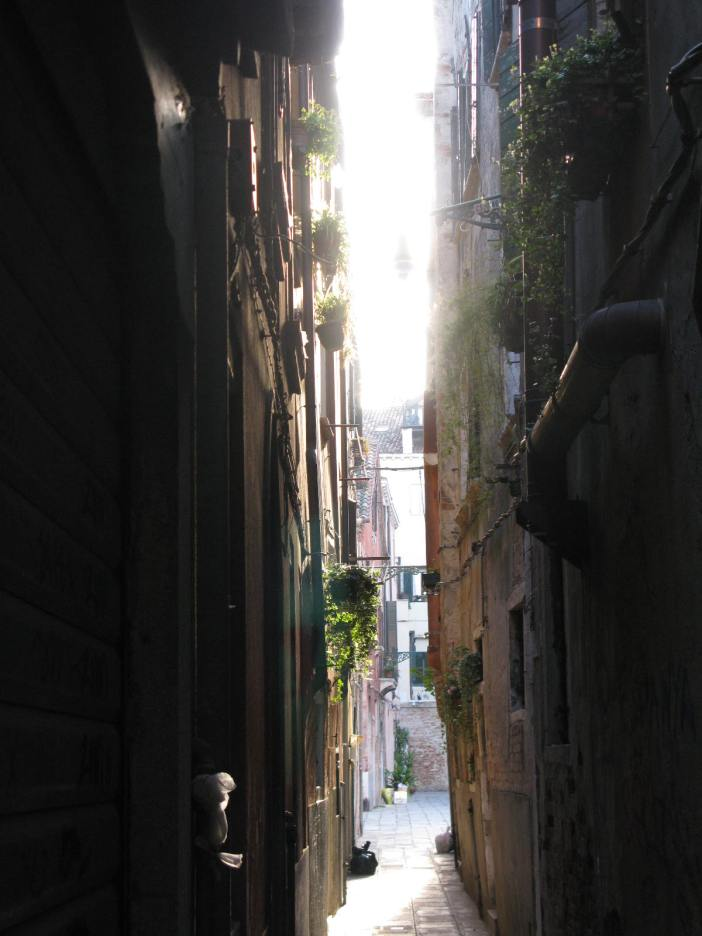 Sunshine on a calle in Venice