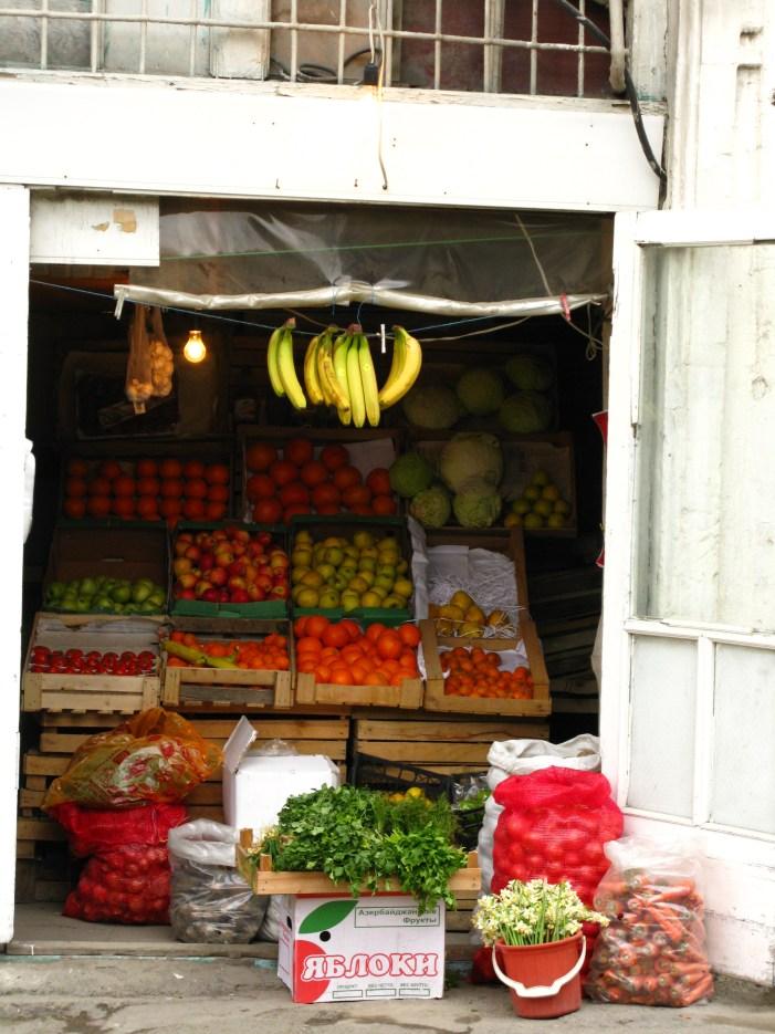 Street market Baku Azerbaijan