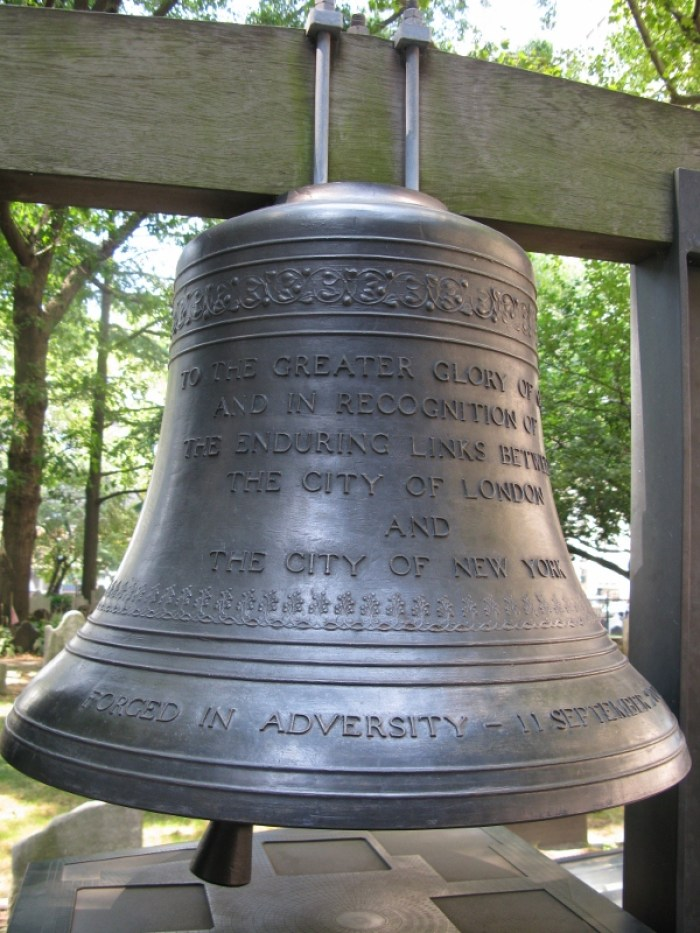 St Paul's Cemetery New York USA Bell of Hope