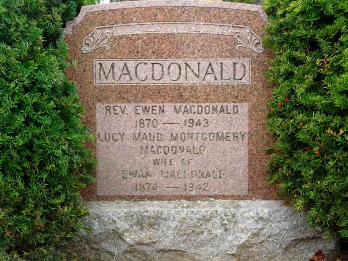 LM Montgomery tombstone