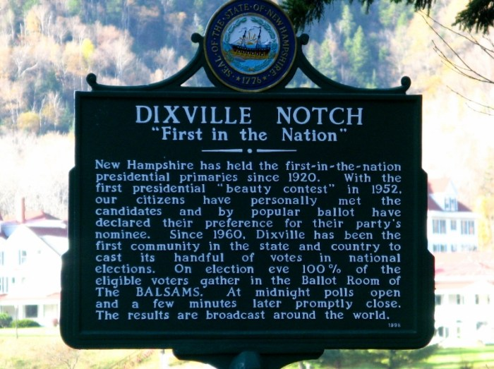 Dixville Notch New Hampshire