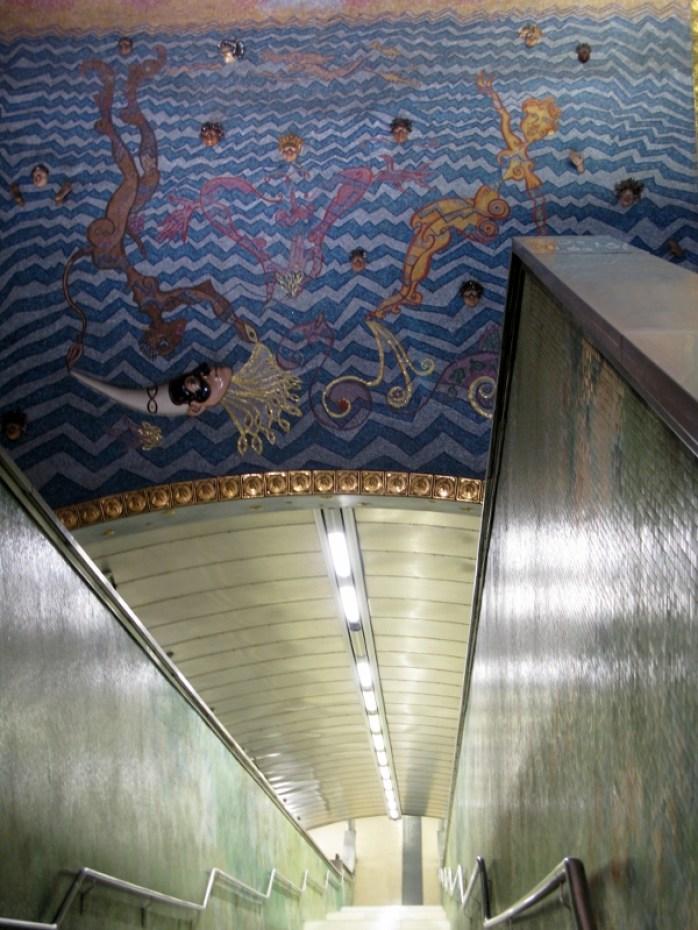 Naples metro art