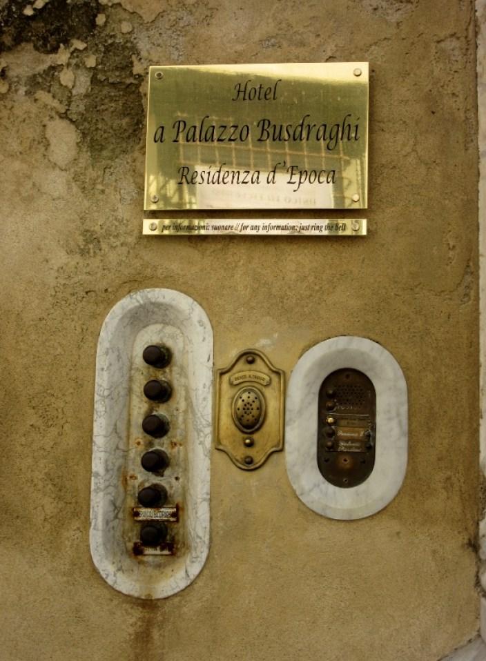 Doorbells in Lucca, Italy