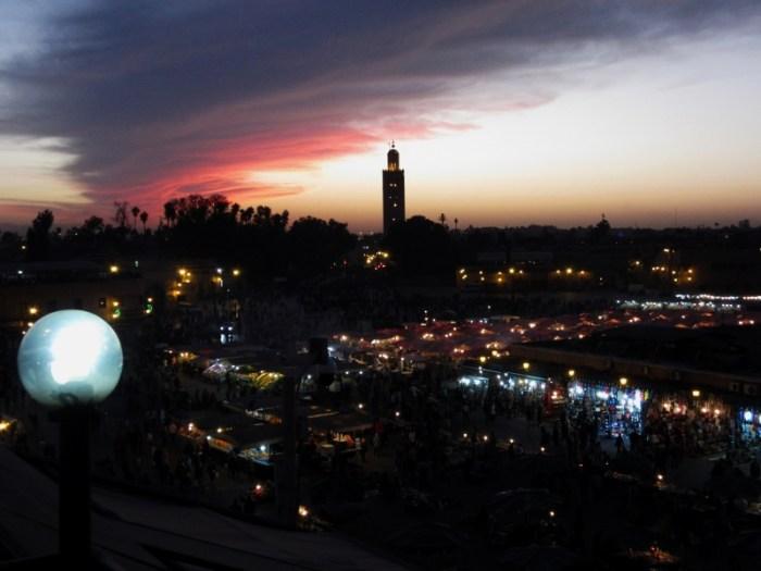 Place Jemaa el Fna Marrakesh sunset