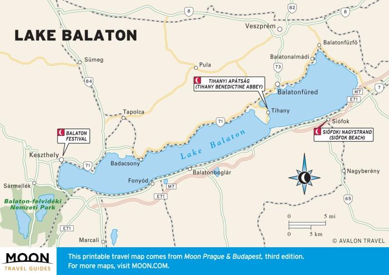 Map of Balaton and including Kis-Balaton
