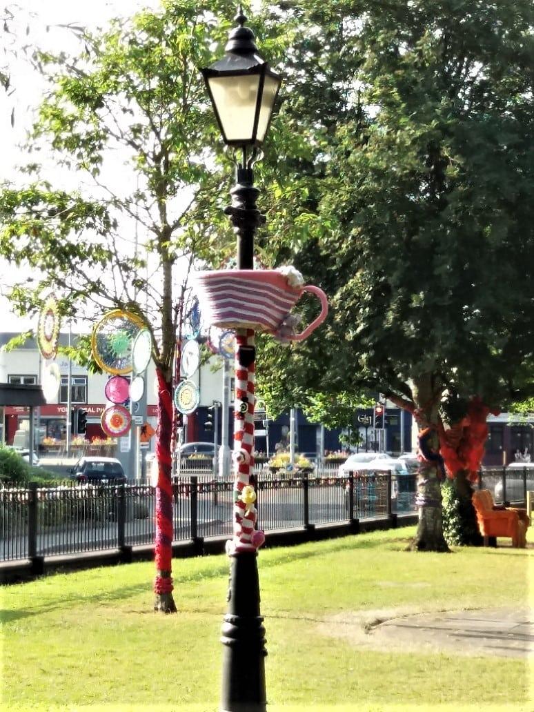 Liffey Park Newbridge Yarn Bombed