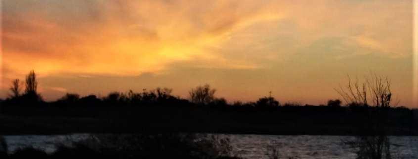 Sunset at Balatonmáriafürdő