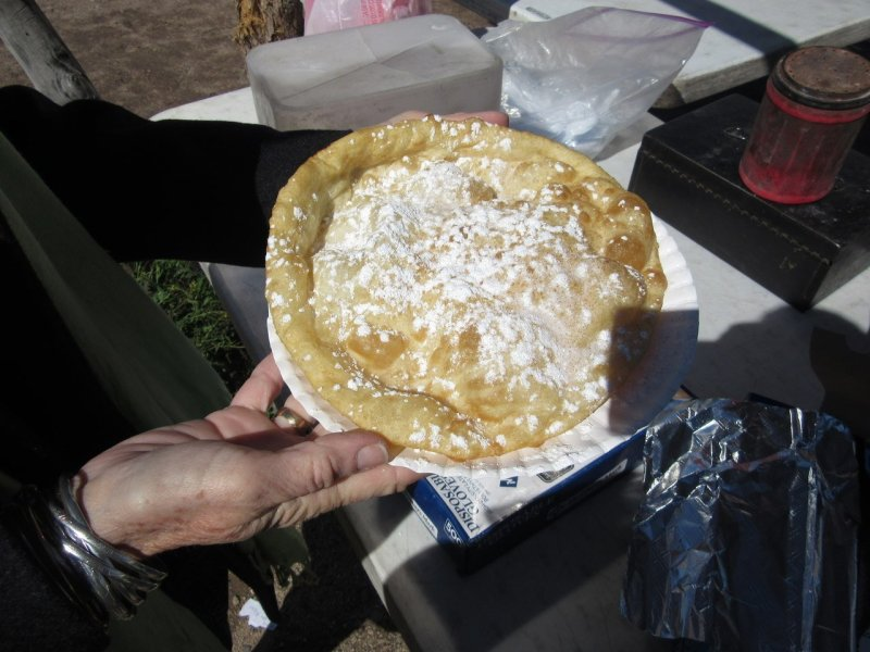 Indian frying bread being made at Mission San Xavier del Bac, Tucson Arizona