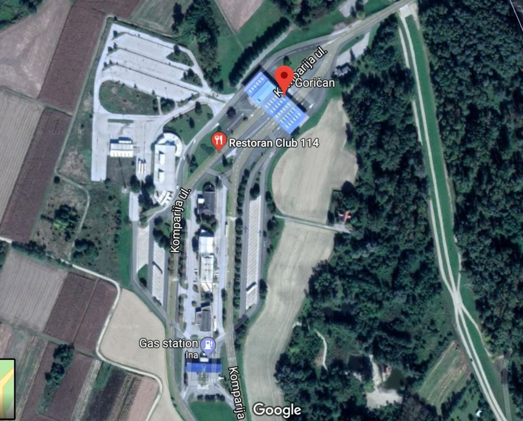 Googl eimage of the Letenye–Goričan I closed border crossing