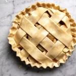 uncooked apple pie lattice crust