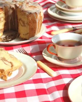 Jewish Apple Cake With Teacups