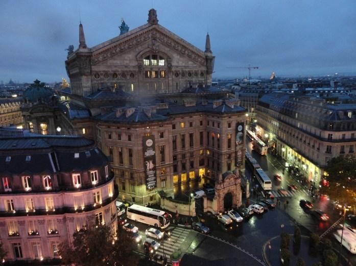 Vue de Paris depuis le tout des Galeries Lafayette - Opéra