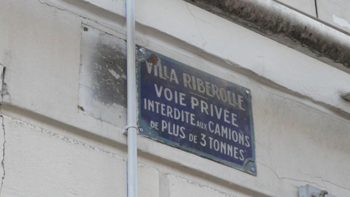 Villa Riberolle - Plaque