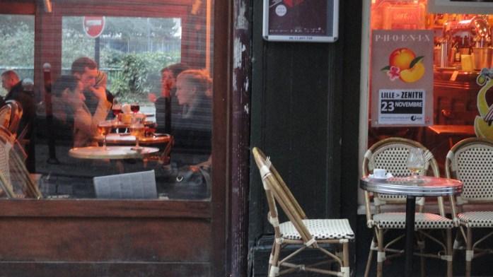 Lille - Fenêtre d'un café