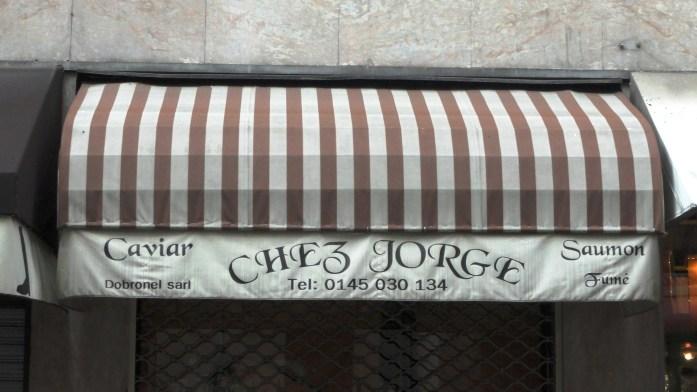 Chez Jorge - Rue Dufrenoy, Paris 16e