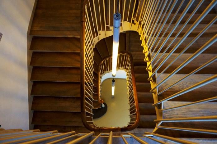 Les escaliers du Carré Baudouin, Paris 20e