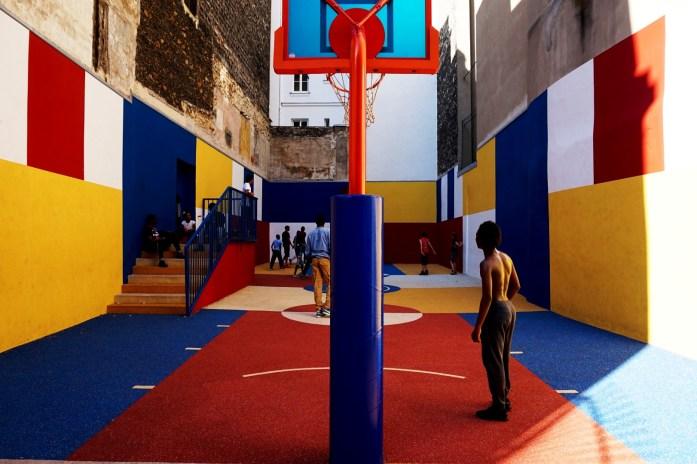 Balade dans le 9e - De Pigalle à Cadet - Terrain de basket rue Duperré