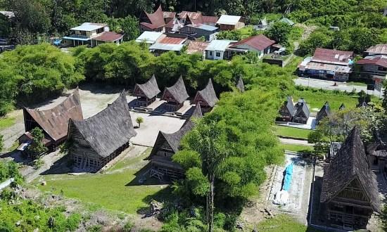 Village Batak, vu du ciel