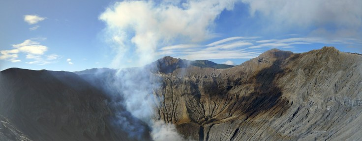 Bromo - panorama du cratère