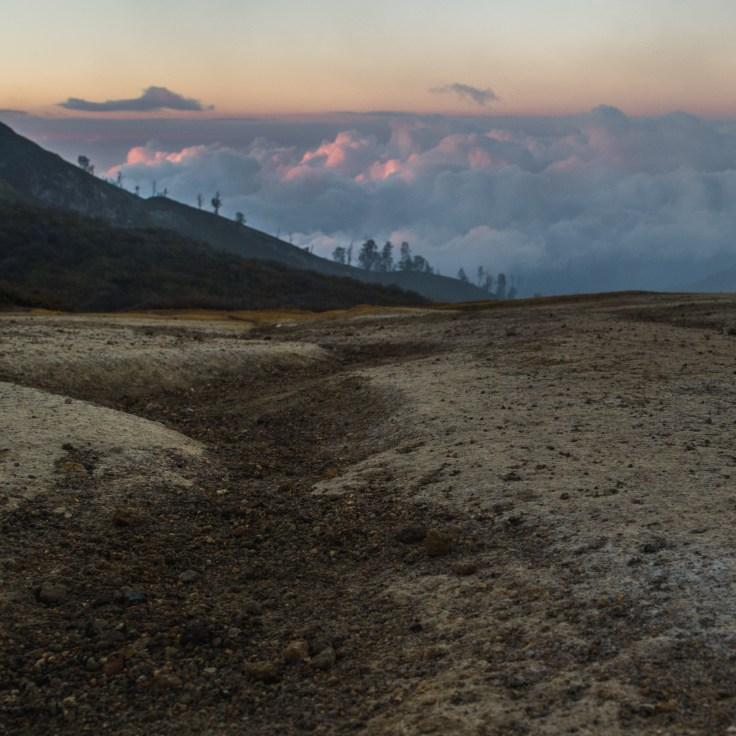 Kawah Ijen - de l'autre côté du cratère