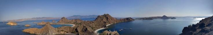 Panorama sur Padar Island
