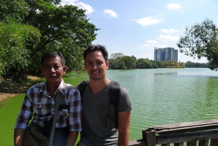 Myanmar - Yangon - Bogyoke Park lake