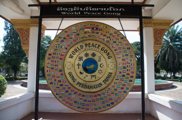 Laos - Vientiane - World Peace gong