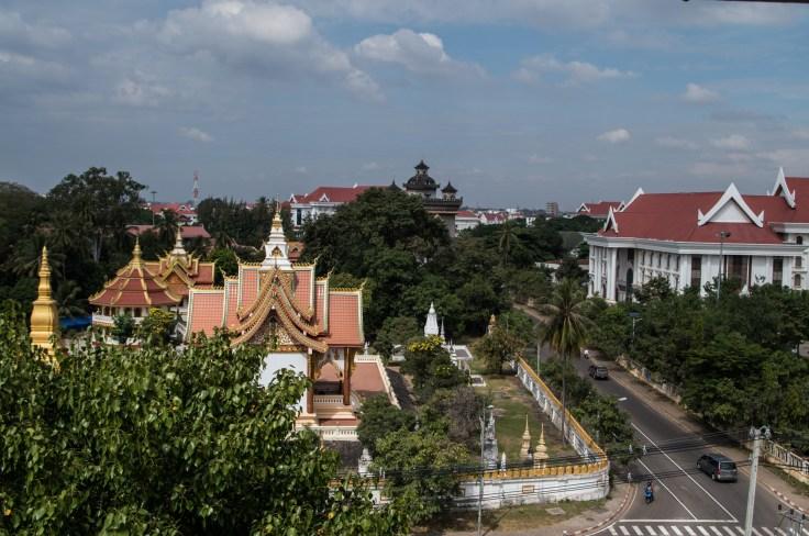 Laos - Vientiane - Phat Tich view