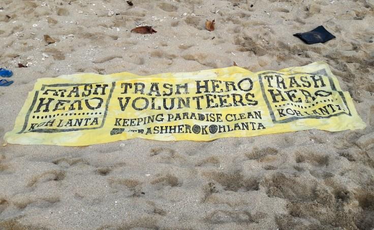 Thailande - Koh Lanta - bannière Trash Hero