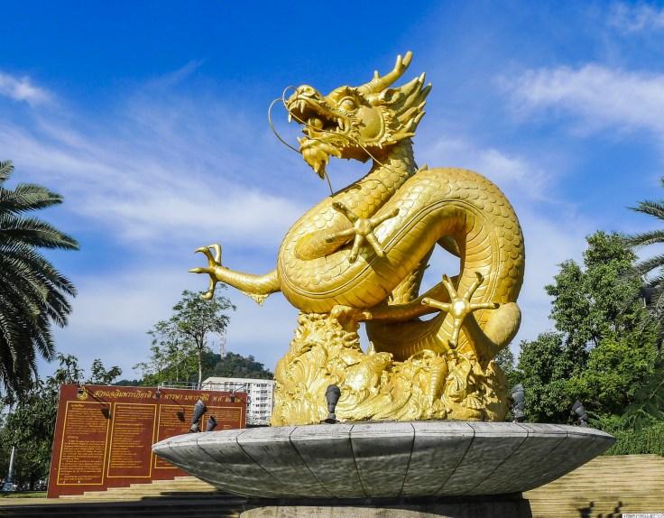 Thailand - Phuket - Statue Hai Leng Ong - Dragon