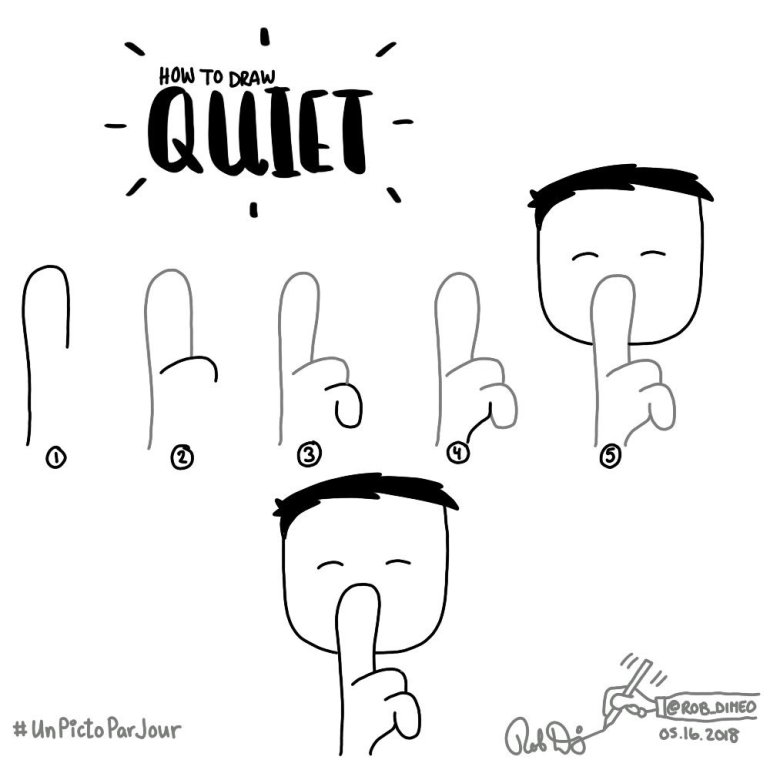 Scribing / Sketchnotes tutorial : How to draw Quiet