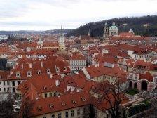 Vue depuis château Prague
