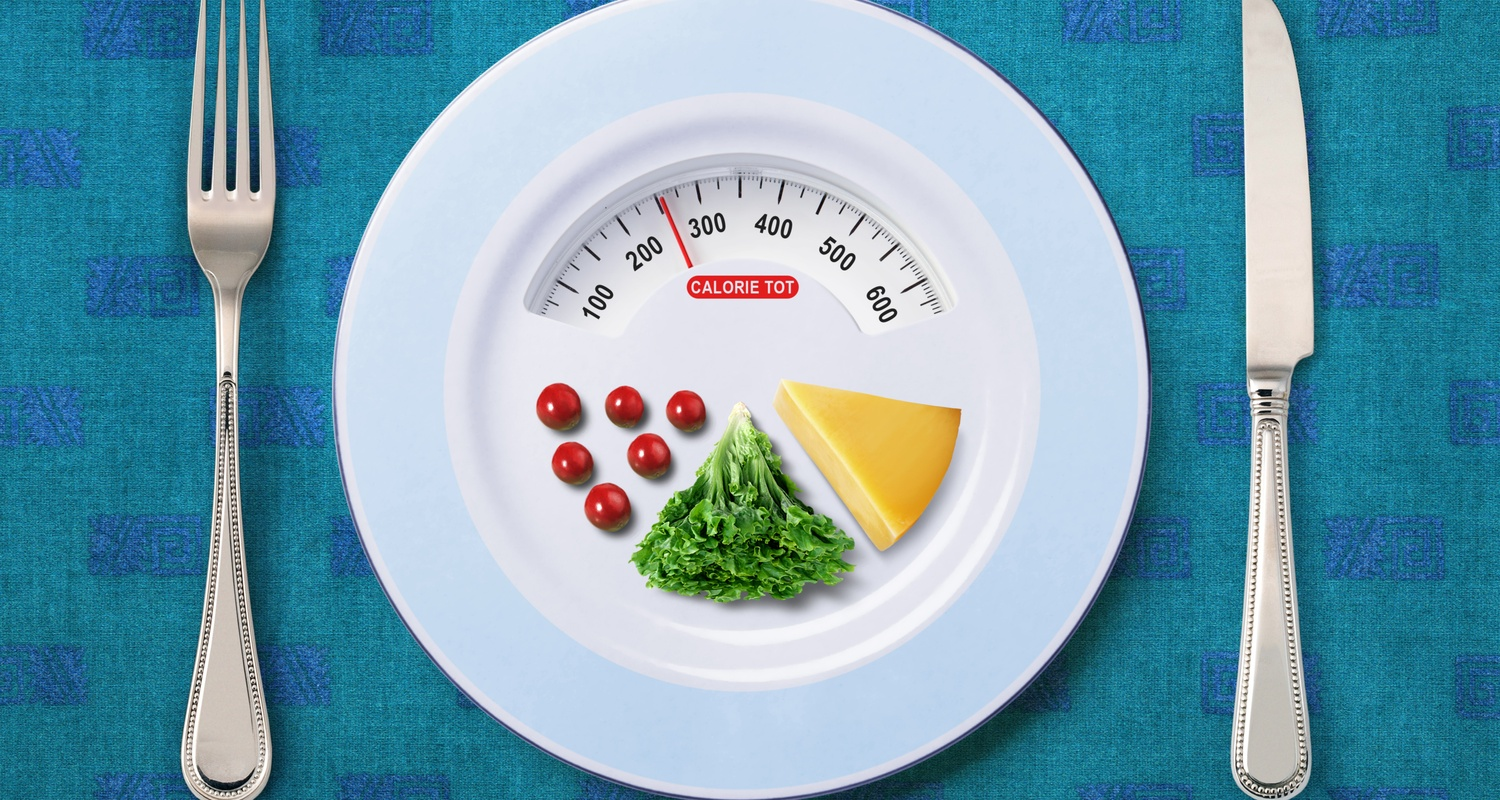 food on a plate and calories totals for understanding calories
