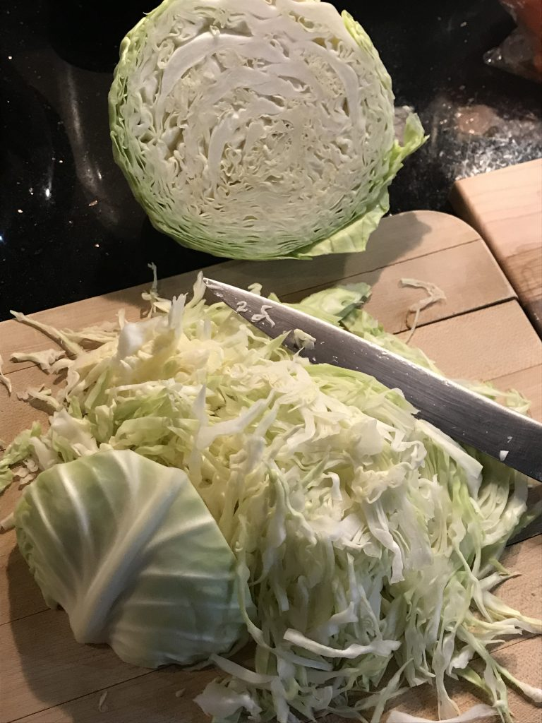 cabbage sliced