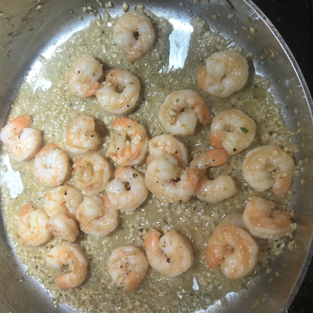 shrimp cooking