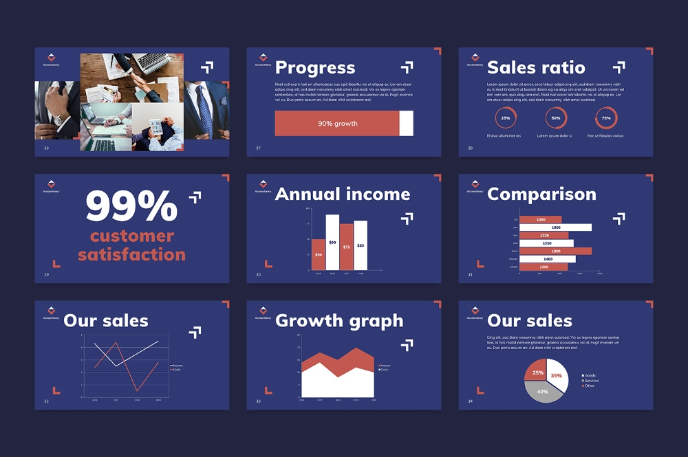 accountancy firm powerpoint presentation template on