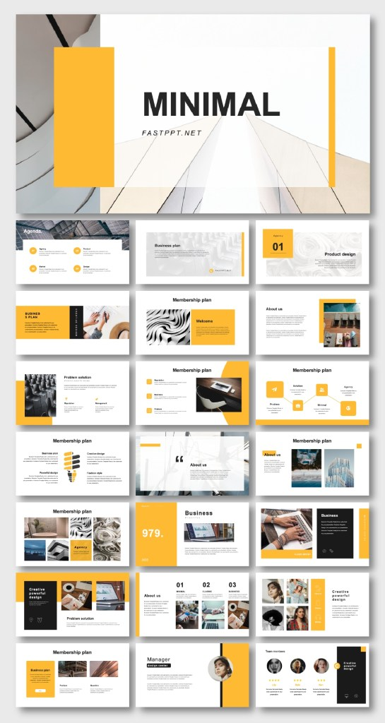 clean business introduction powerpoint template