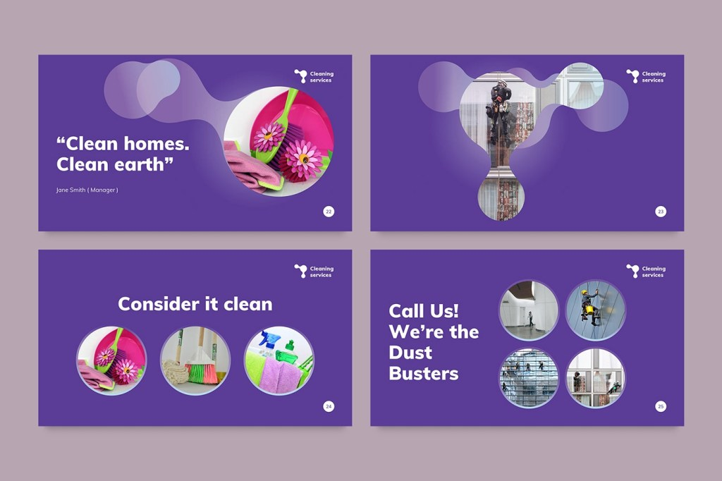 cleaning service powerpoint presentation template on behance