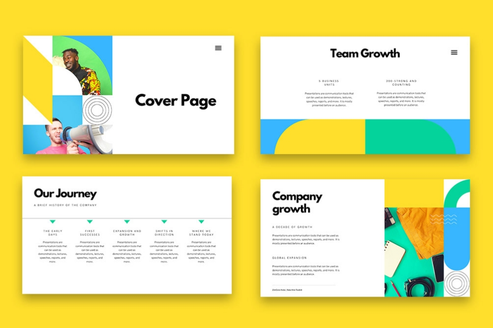 company profile presentation template on behance in 2020