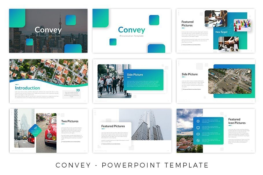 convey presentation template business powerpoint