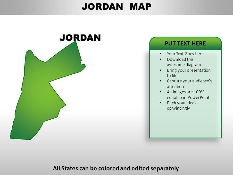 jordan country powerpoint maps powerpoint templates